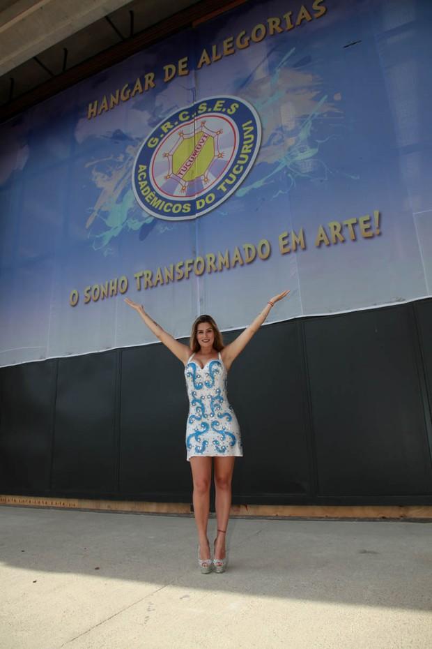 Vanessa Alcântara no barracão da Tucuruvi (Foto: Marco Ribas/EGO)