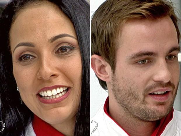 Dig Dutra e Max Fercondini (Foto: Mais Você / TV Globo)