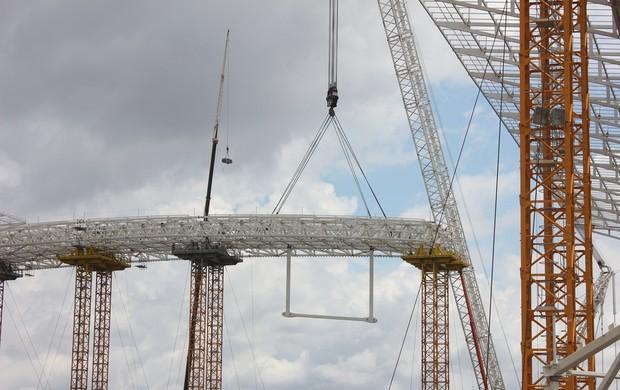 Nova estrutura metálica instalada na Arena Corinthians (Foto: Divulgação)