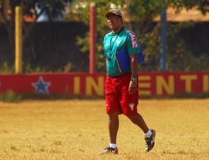 Samuel Cândido, técnico do Parauapebas. (Foto: Antonio Cícero / Colaborativo)