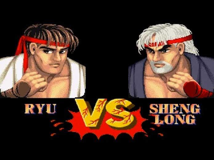 Ryu e Sheng Long em montagem feita por fã (Foto: Reprodução/YouTube)