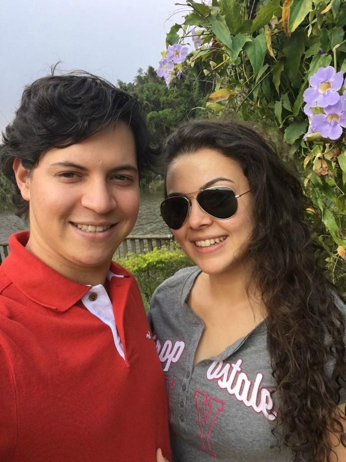 Aires Dias Netto e Fernanda Silva namoram há quase quatro anos (Foto: Arquivo Pessoal)