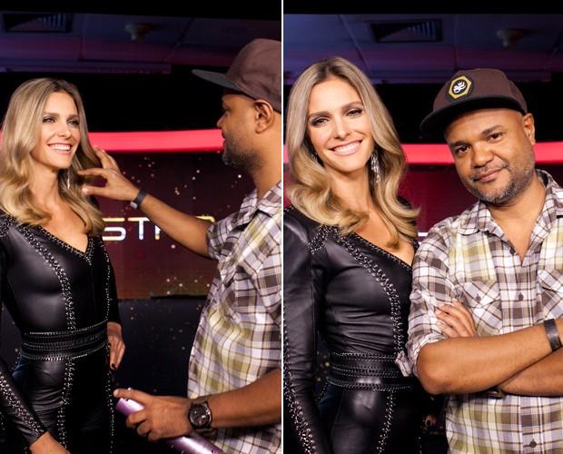 Fê Lima ao lado do amigo e caracterizador, Alê de Souza: primeira temporada do reality (Foto: Dafne Bastos/Gshow)