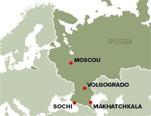 Mapa Rússia atentados Makhatchkala (Foto: Editoria de arte)