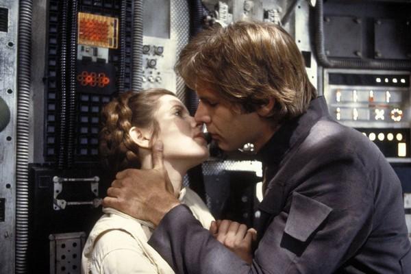 Harrison Ford e Carrie Fisher em O Império Contra-Ataca  (Foto: Divulgação)