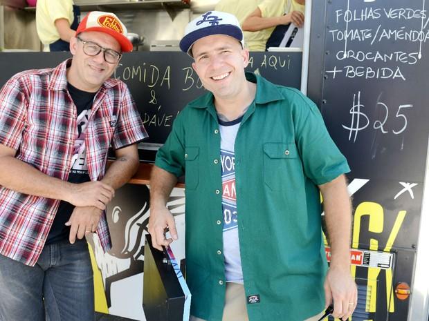 Marcio Silva e Adolfo Schoefer so precursores dos Food Trucks no Brasil (Foto: Divulgao / Eliane Rodrigues)