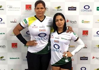 Prisilla Rivera, Brenda Castillo, dominicanas, Vôlei Bauru (Foto: Divulgação / Vôlei Bauru)