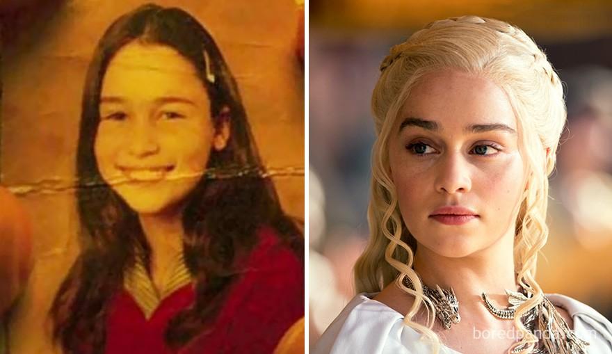 Emilia Clarke antes de Daenerys (Foto: Reprodução)
