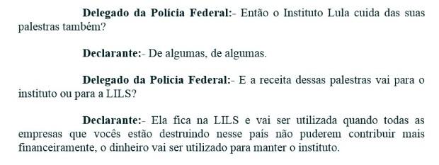 Lula fala sobre recursos ao Instituto (Foto: Reprodução)
