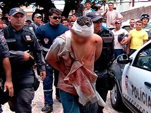 Um dos suspeitos foi baleado durante o confronto com a polícia (Foto: Reprodução/Inter TV Cabugi)