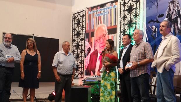 Caca Digues e Ministro Aldo Rebelo - Flimar (Foto: Viviane Leão/GLOBOESPORTE.COM)