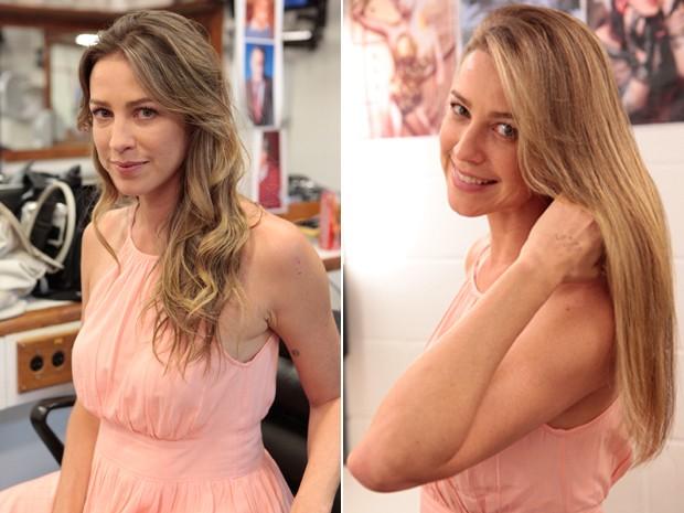 O antes e depois de Luana Piovani (Foto: Guerra dos Sexos/ TV Globo)