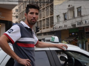 Taxista em Campinas (SP) (Foto: Marina Ortiz/ G1)
