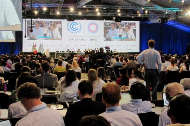 Delegados de 196 países aprovaram a decisão da COP 20, em Lima. Pacote acordado na conferência vai ajudar a formular novo acordo global contra os efeitos da mudança do clima (Foto: Eduardo Carvalho/G1)