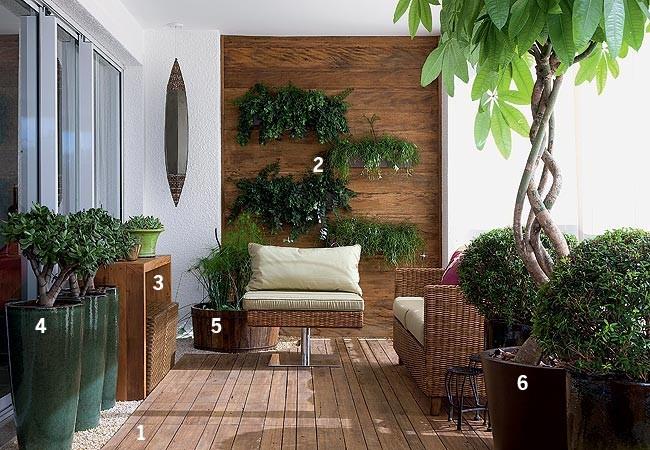 Ambientes bem resolvidos casa e jardim varanda e terra o for Jardines colgantes para interiores