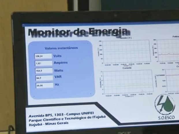 Medidor permite saber quanto de energia é consumido em um determinado local (Foto: Reprodução EPTV/ Edson de Oliveira)
