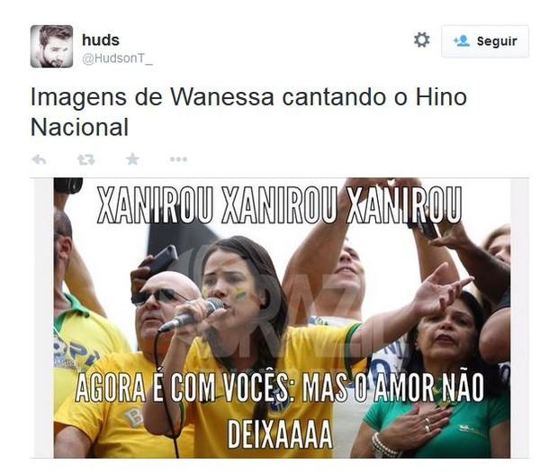 Wanessa vira meme (Foto: Reprodução)