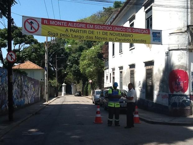 Intedição de ruas começaram nesta segunda-feira (Foto: Guilherme Brito / G1)