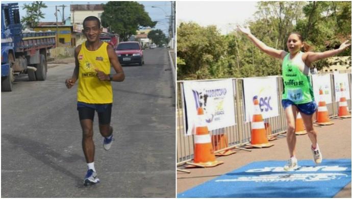 Dupla amapaense visa ficar entre os 50 primeiros atletas na São Silvestre (Foto: Arte/GE-AP)