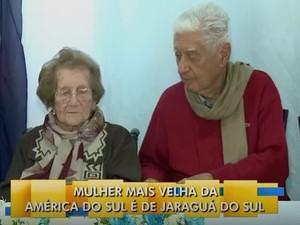 Alida e o filho de 89 anos (Foto: Reprodução/RBS TV)