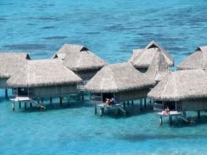 Resort em Moorea, ilha na Polinésia Francesa (Foto: Bruno Barbier/Only France/AFP)