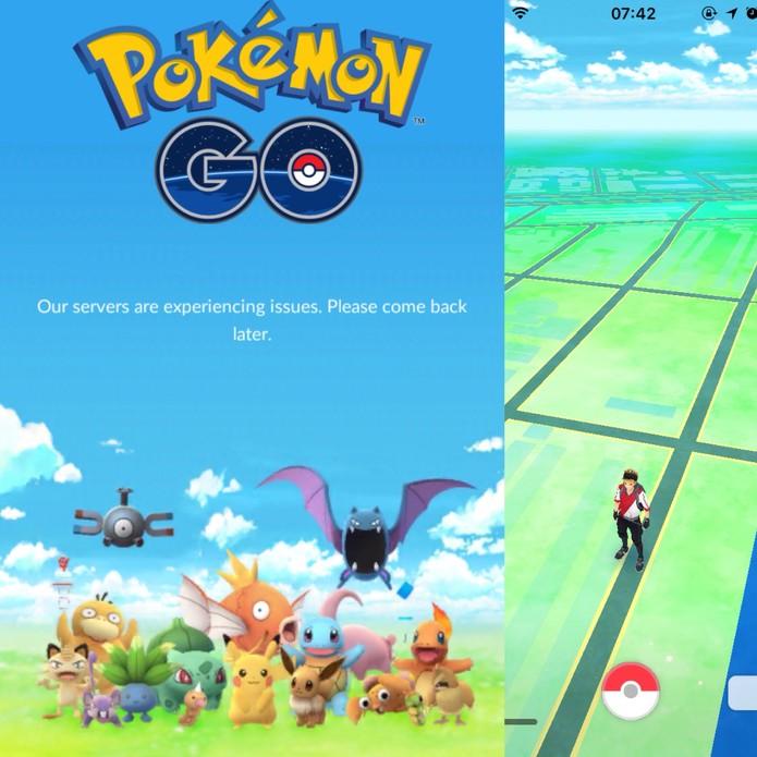 Pokémon Go pode ter problemas de conexão e erros (Foto: Reprodução/Felipe Vinha)