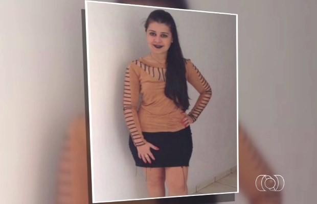 Renata Rezende é suspeita de participar da morte do ex-prefeito de Estrela do Norte, em Goiás (Foto: Reprodução/ TV Anhanguera)