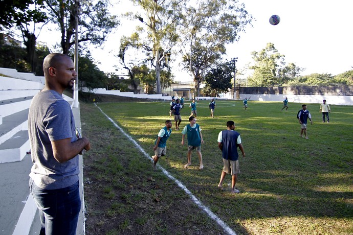 Jefferson Botafogo visita ao DEGASE (Foto: Vitor Silva / SSPress)