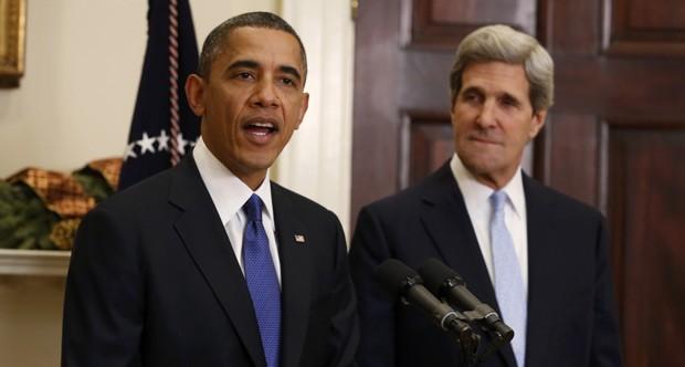 O presidente dos EUA, Barack Obama, anuncia John Kerry como seu futuro secretário de Estado nesta sexta-feira (21) na Casa Branca (Foto: Reuters)