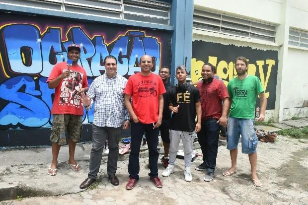 Júlio Pompeu participou de evento do Ocupação Social em Vila Velha (Foto: Secundo Rezende)
