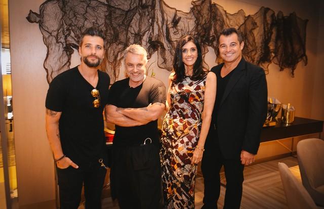 Bruno Gagliasso, Lino Villaventura, Denise Barreto e Paulo Bacchi (Foto: André Ligeiro e Juan Guerra)