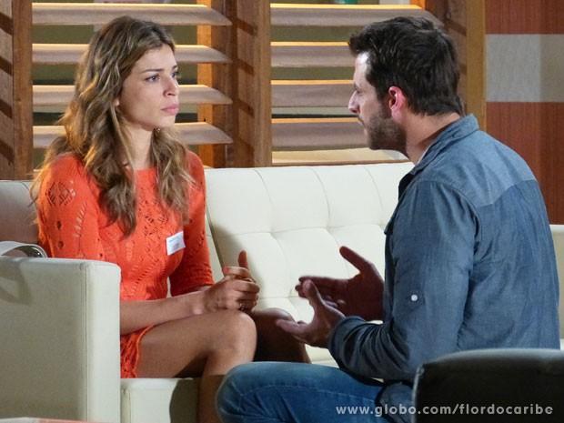 Ester revela que Dionísio ordenou a morte de Samuel (Foto: Flor do Caribe / TV Globo)