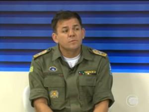 Comandante geral da Polícia Militar do Piauí, coronel Carlos Augusto Gomes (Foto: Reprodução/TV Clube)