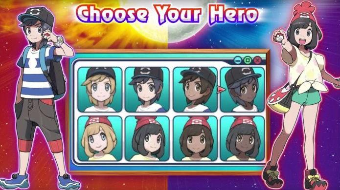 Pokémon Sun e Moon: escolha entre os oito modelos básicos de treinador (Foto: Reprodução / Thomas Schulze)