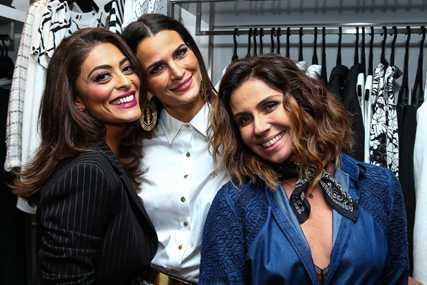 Juliana Paes, Fernanda Motta e Giovanna Antonelli (Foto: Raphael Castello/AgNews)