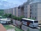 Apartamento pega fogo no Jardim Bassoli em Campinas, SP