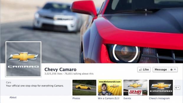 Facebook: Camaro (Foto: reprodução / internet)
