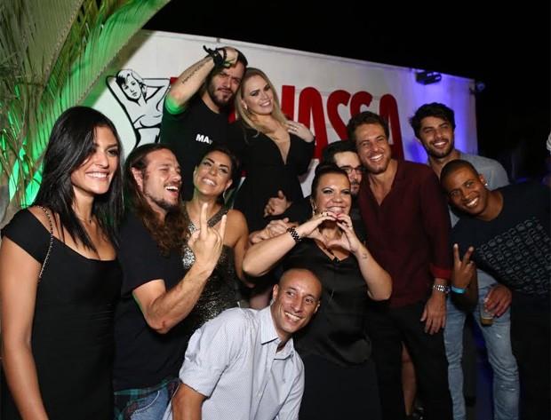 Ex-BBBs se divertem em festa (Foto: Raphael Mesquita/Divulgação)