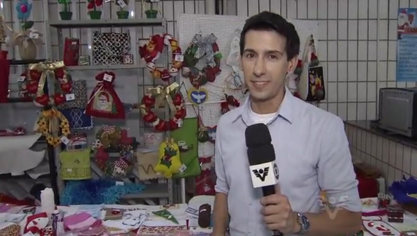 Repórter Luis (Foto: Reprodução/TV Tribuna)