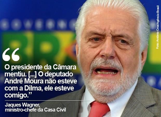 O ministro da Casa Civil, Jaques Wagner, durante entrevista no Planalto (Foto: Antônio Cruz/Agência Brasil)
