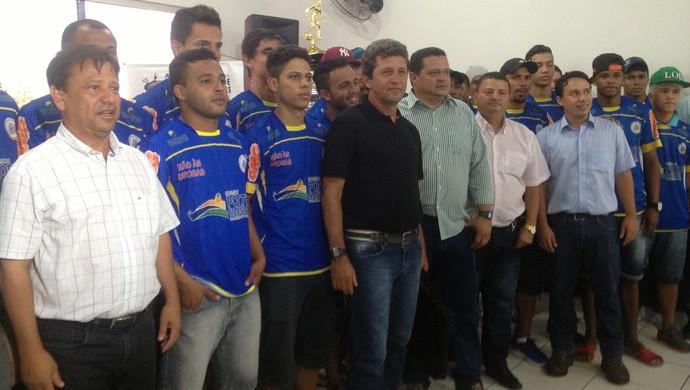 Interporto apresenta elenco para temporada de 2014 (Foto: Vilma Nascimento/GLOBOESPORTE.COM)