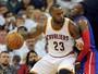 Trio de astros dos Cavaliers segura os Pistons e vence primeiro jogo da série