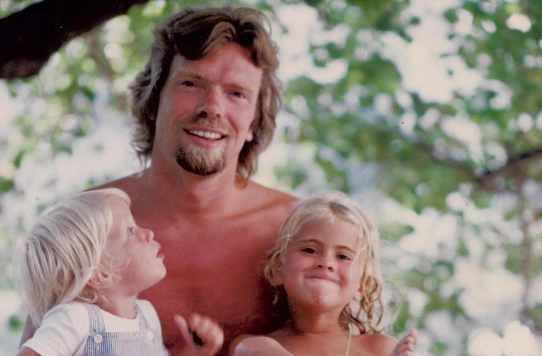 Richard Branson com os filhos  (Foto: Reprodução/Instagram)