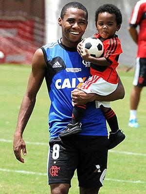 Elias e Filho Flamengo (Foto: Alexandre Vidal / Fla Imagem)