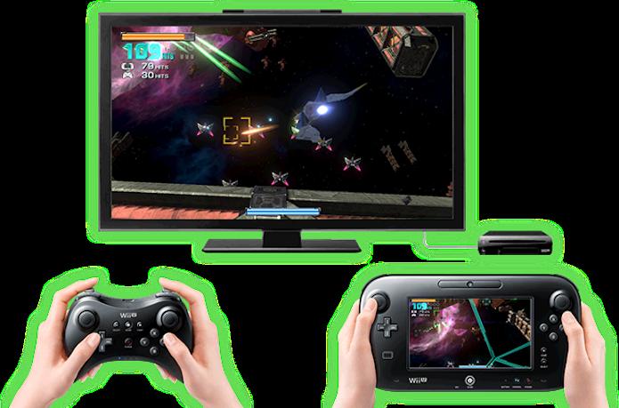 No modo cooperativo de Star Fox Zero um jogador controla a nave e o outro a mira (Foto: Divulgação/Nintendo)