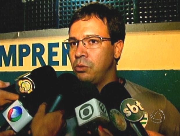 Dado Cavalcante classificou o empate como um bom resultado (Foto: Reprodução/TVCA)