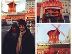 Encasacados, Gracyanne Barbosa e Belo posam no Moulin Rouge
