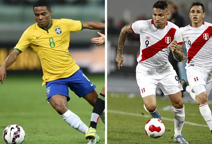 MONTAGEM - Elias Brasil e Guerrero PEru (Foto: Editoria de Arte)