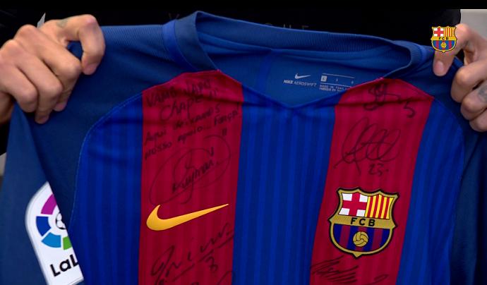 BLOG: Camisa do Barça enviada para a Chape tem dedicatória especial de Neymar