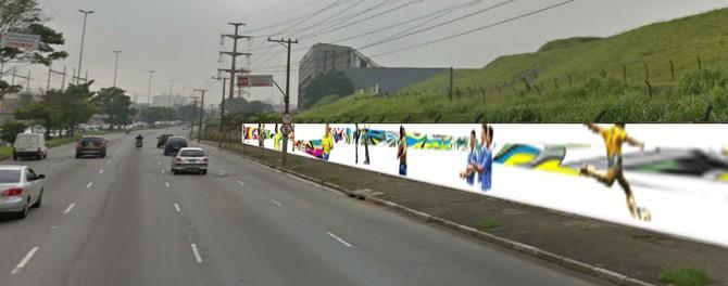 Mural aeroporto Congonhas (Foto: Divulgação )
